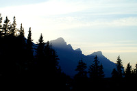 The Three Sisters, Canmore, Alberta, Canada.