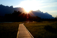 Sunset on the nature walk, Canmore, Alberta, Canada.